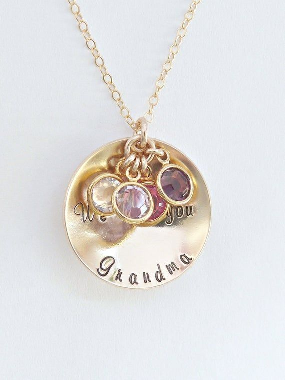 Birthstone Jewelry for Mom Mom Name Necklace Birthstone Gift For Mom Custom Name Necklace Grandma Necklace Birthstone Necklace for Mom