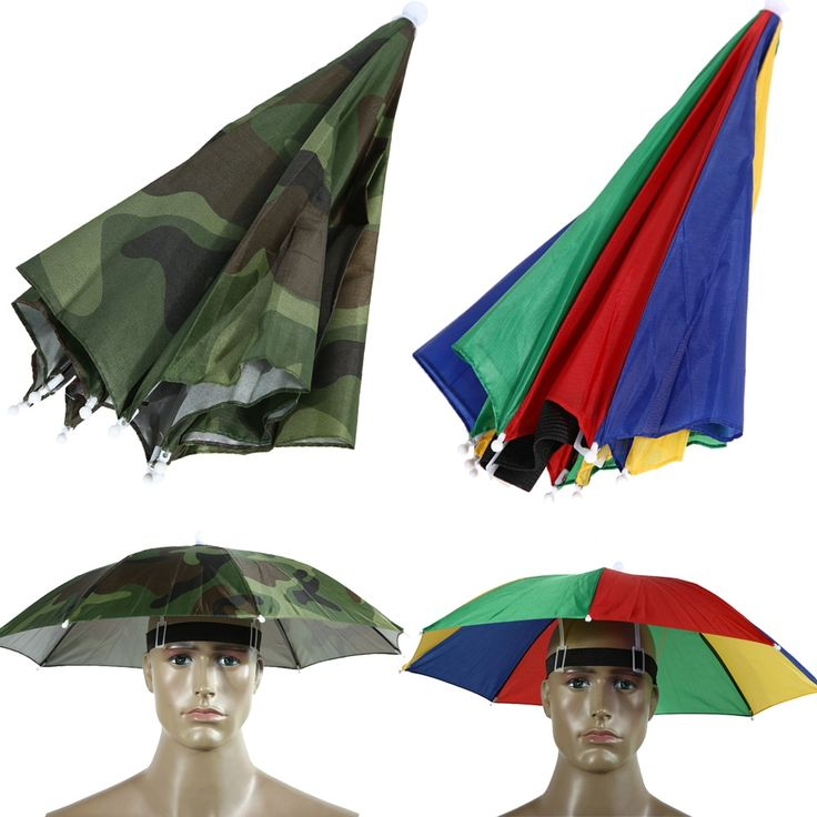 1.85$  Watch here - 2017 2 Color 55cm Umbrella Hat Sun Shade Camping Fishing Hiking Festivals Outdoor Brolly   #SHOPPING