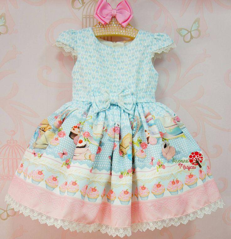 Vestido de Festa Infantil Confeitaria Petit Cherie