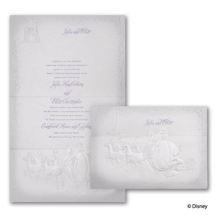 destined for love cinderella wedding invitation with pumpkin coach httppartyblockinvitationsoccasions - Cinderella Wedding Invitations