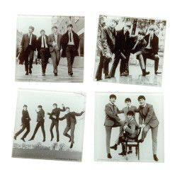 More than just a place to set a cold one, these glass coasters showcase a younger, more innocent side of The Beatles pop group. The Beatles 4 Pc. Glass Coaster Set will take you on a trip down memory