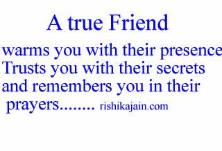 True Best Friend Quotes | true Friend warms you with their presence Trusts you with their ...