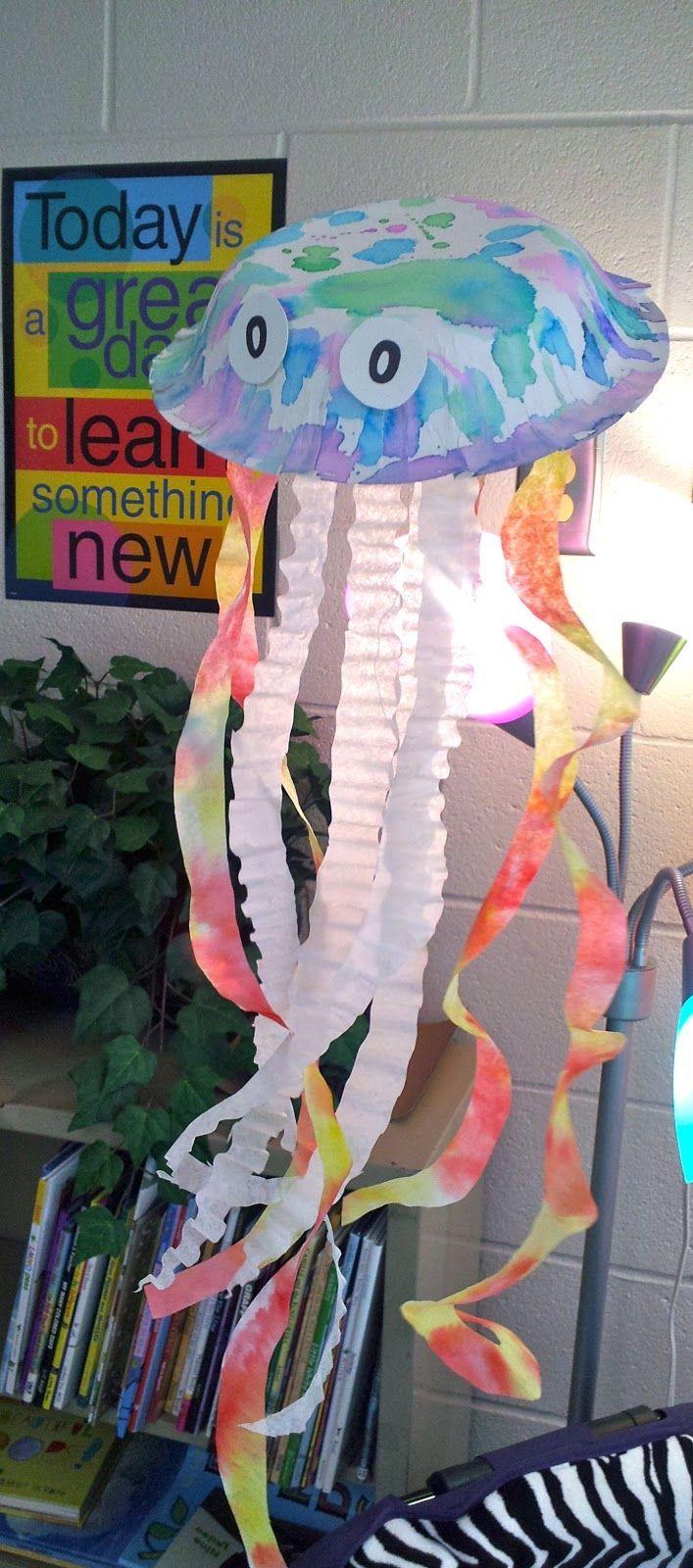 Fun jellyfish craft for an ocean unit.