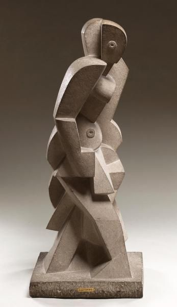 Jacques Lipchitz French, active in the United States, 1891–1973 Bather  1917 Limestone (with integral base): 36 1/2 x 14 1/2 x 12 in. (92.7 x 36.8 x 30.5 cm)