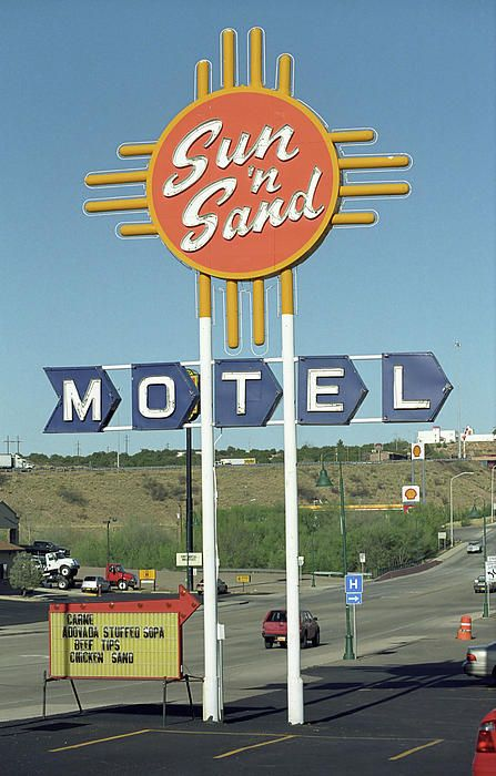 "Route 66 - The Sun and Sand Motel on Rt. 66 in Santa Rosa, New Mexico. ""The Fine Art Photography of Frank Romeo."""