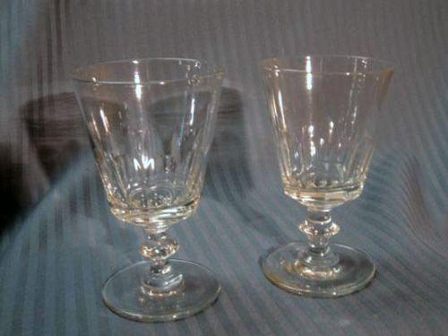 Pair Georgian toasting glasses 1800's