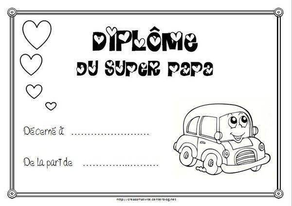 Diplome du super papa - Centerblog