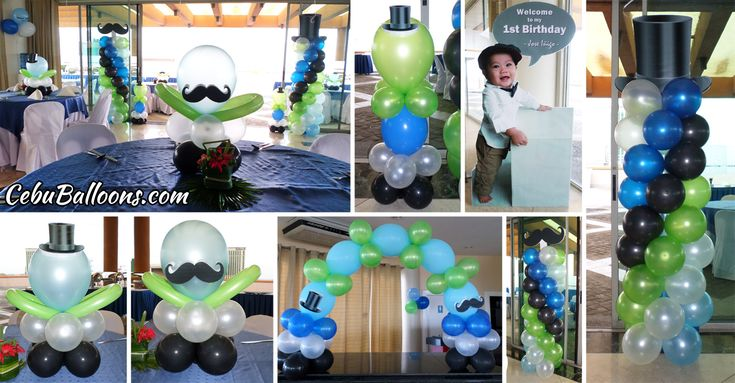 118 best benson 39 s 1st birthday ideas images on pinterest for Balloon decoration packages manila