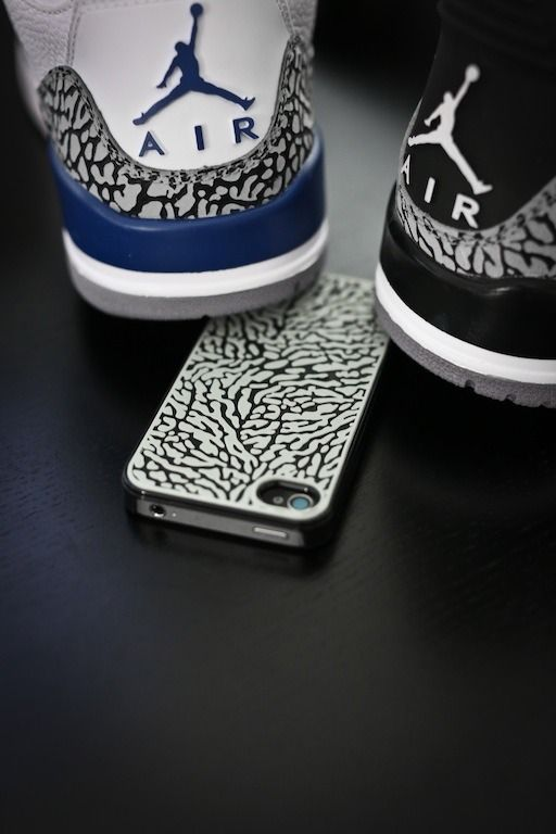 True Blue 3's & Black Cement 3's and iPhone case with elephant print New Hip Hop Beats Uploaded EVERY SINGLE DAY http://www.kidDyno.com