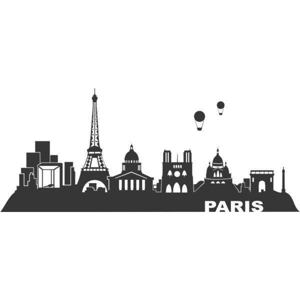 Wandtattoo Paris Skyline Wandtattoo Paris bei Wandtattoos.de found on Polyvore