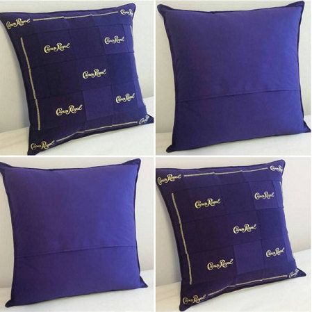 Crown Royal Throw Pillows Made From Genuine by LuluBelleQuilts (Bottle Bag Pattern)