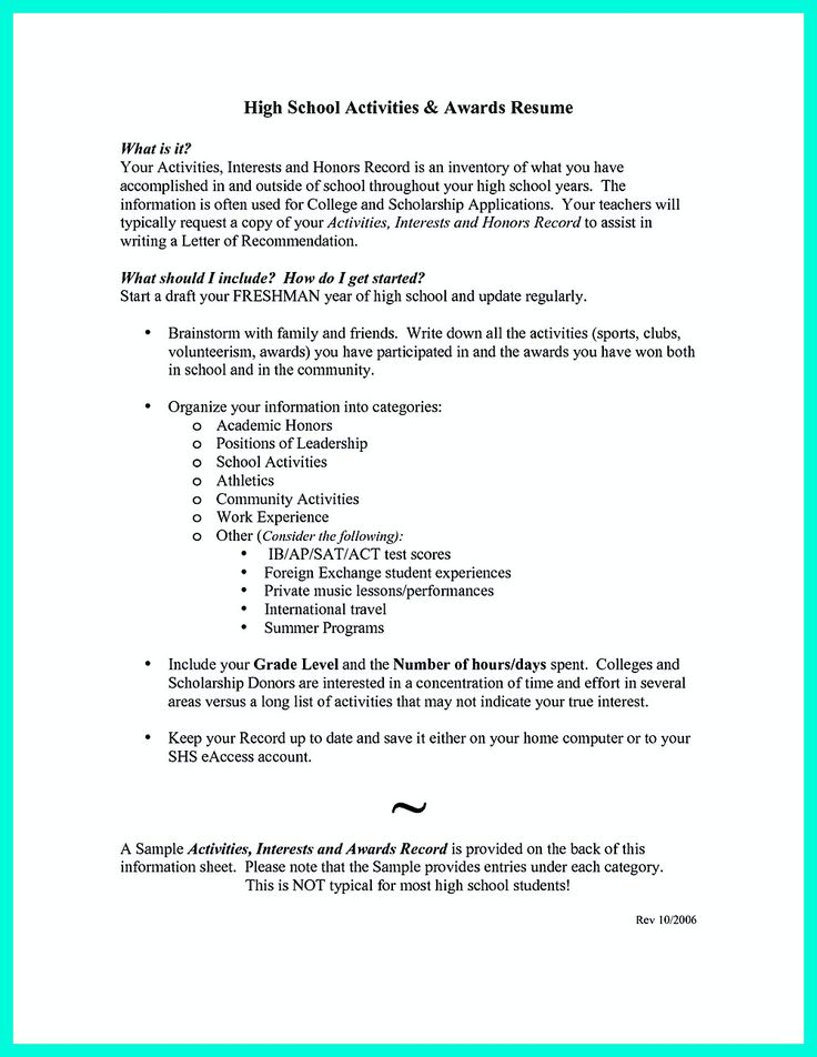 college admissions resume template download activities high school templates word application samples