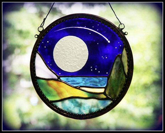 Full Moon Stained Glass. This past June's full moon was amazing!