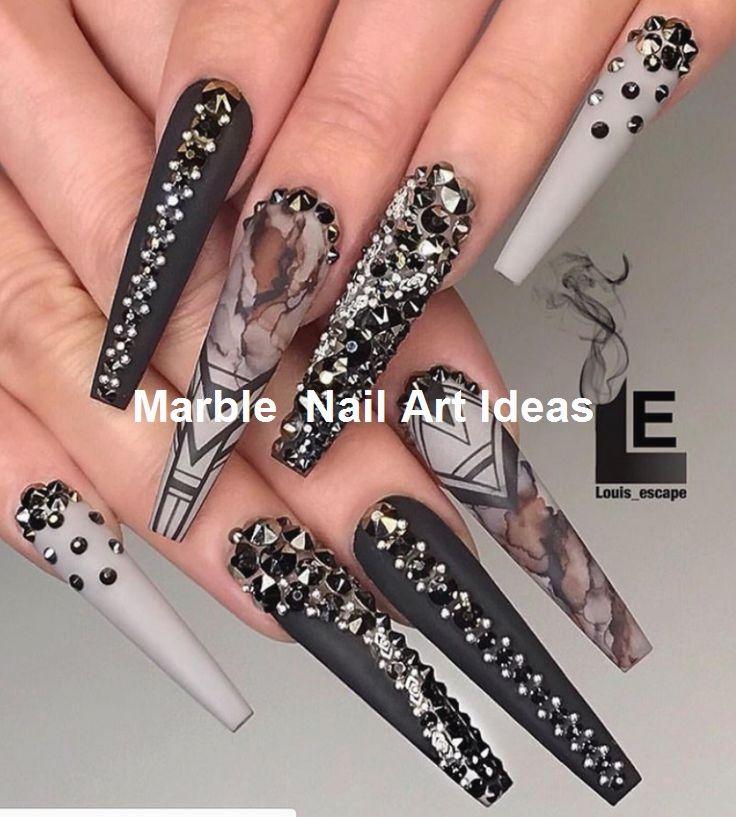 25 Marmornagel Design mit Wasser & Nagellack #Marblenails #Nagelideen – Simple Marble Nail ART Designs