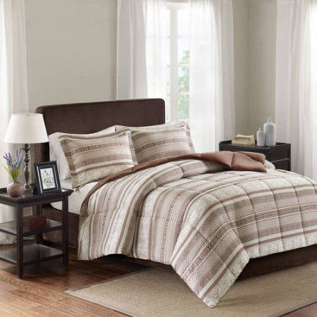 Comfort Classics Elson 3M Scotchgard Down Alternative Comforter Mini Set, Beige