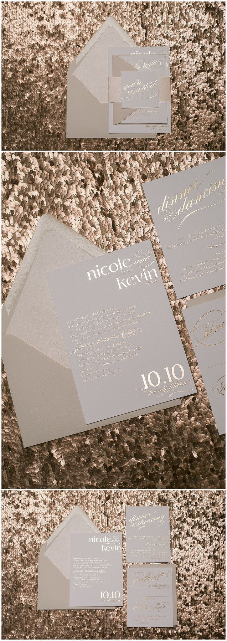 size of response cards for wedding invitations%0A Our Exquisite CYNTHIA Suite Rose Gold and Blush Neutral Color Scheme Wedding  Invitations