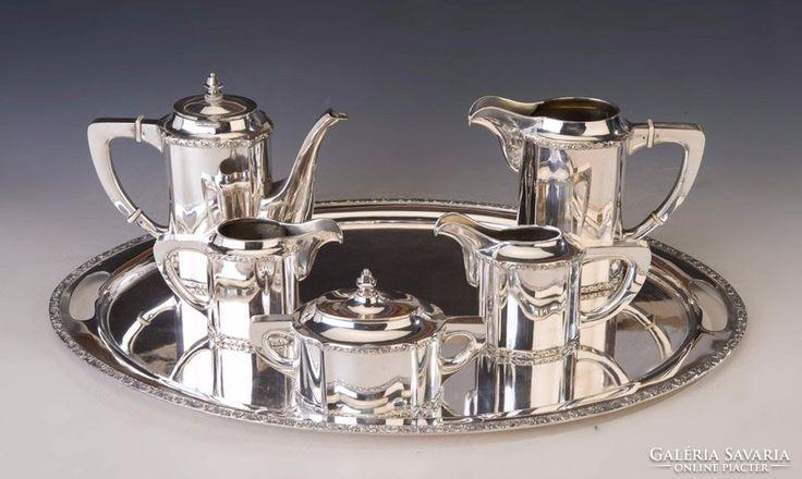 Ezüst teás-/kávéskészlet