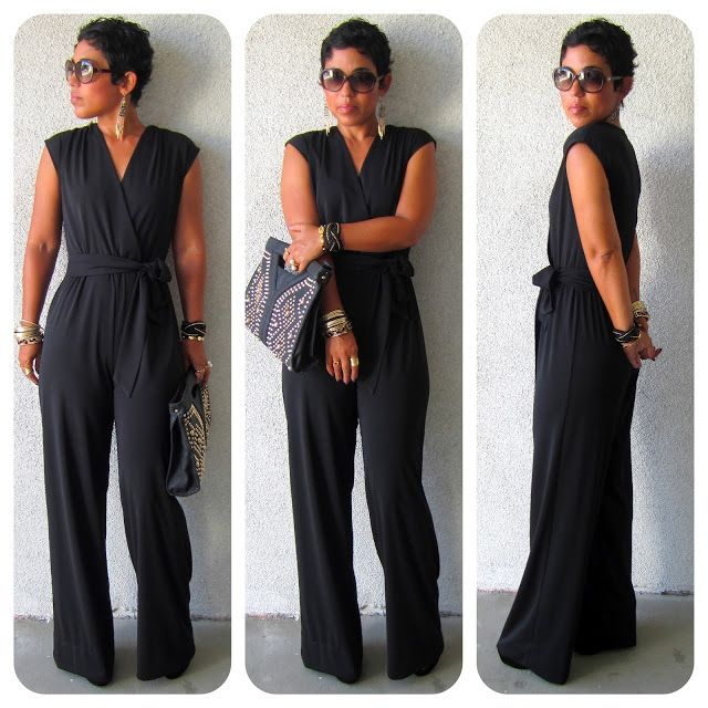 diy+black+jumpsuit | DIY Black Jumpsuit + Pattern Review McCall 6083 + Get The Look https://bellanblue.com/collections/new