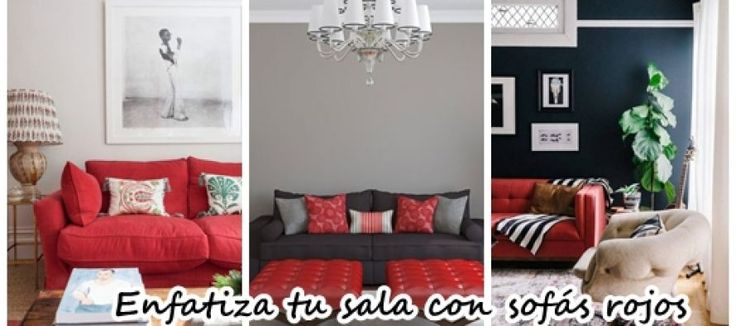 30 Ideas para decorar tu sala de estar con sofás rojos