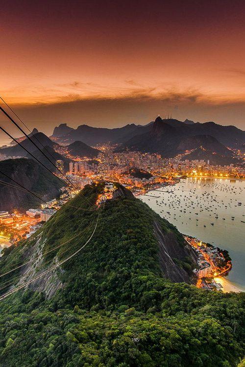 By Juan Carlos Ruiz  The amazing view of Rio de Janeiro from the Sugarleaf (Päo de Açucar) Brazil