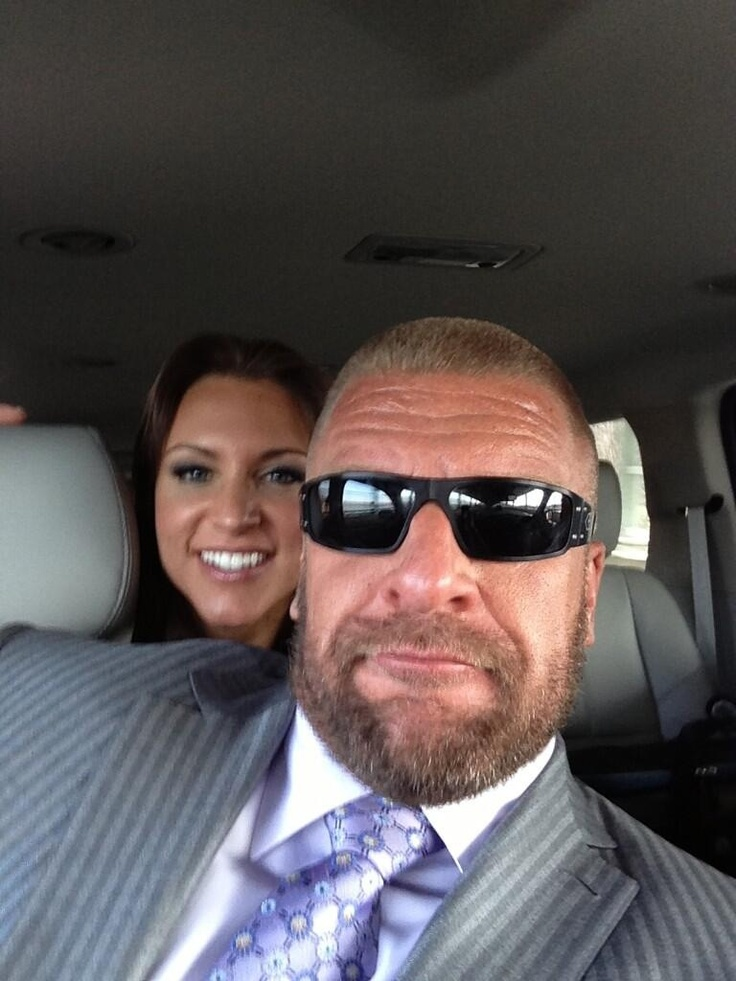 Triple h and Stephanie...probably the cutest picture of them. I love them both. <3