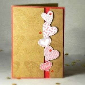Valenýtnka pomocí razítek / Valentine´s Card made with stamps