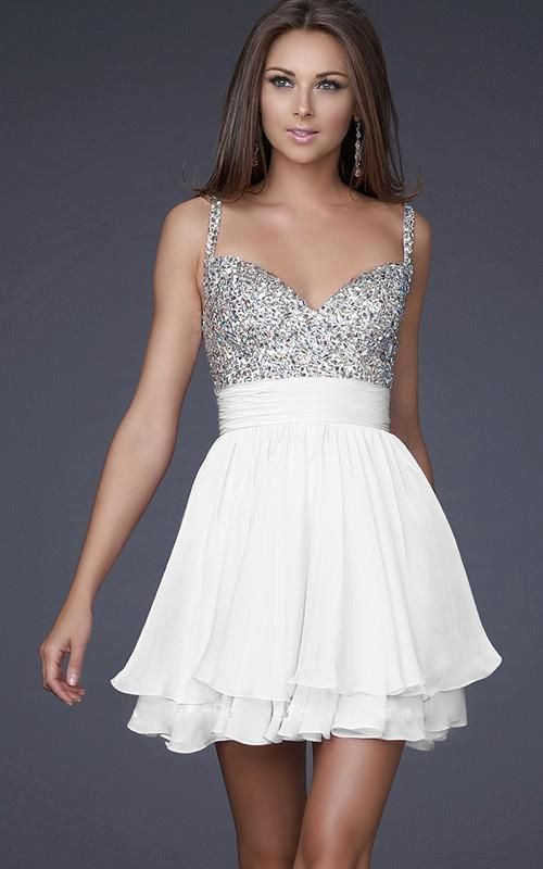 White and silver dress