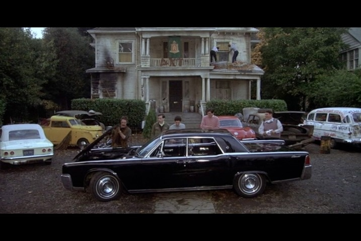 animal house 1964 lincoln continental deathmobile famous. Black Bedroom Furniture Sets. Home Design Ideas