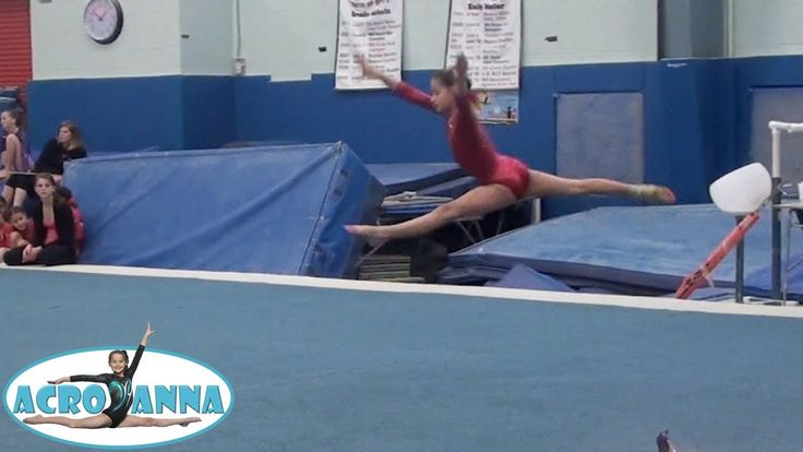 Annie the Gymnast | USAG New Level 5 Gymnastics Meet 2 | Acroanna. And my friends and I are in the backround:).