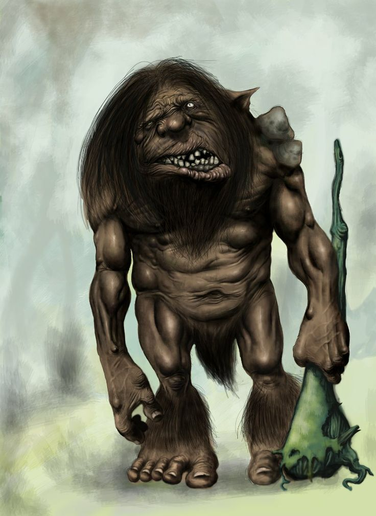 Troll Nº 1. Ilustración Digital con Photoshop.