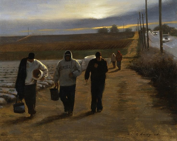 """Warren Chang   End of Day  Oil on Canvas 24 x 30"""""""