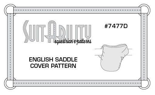 PDF English Saddle Cover Pattern (4.00 USD) by SuitAbilityEpatterns