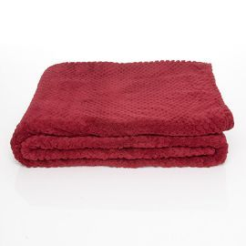 Throw Blanket - Scarlet This luxurious soft fleece throw blanket with a diamond pattern design a perfect throw for your bedroom or living room! #blanket #throwblanket #fleecebanket #bedroomdecor