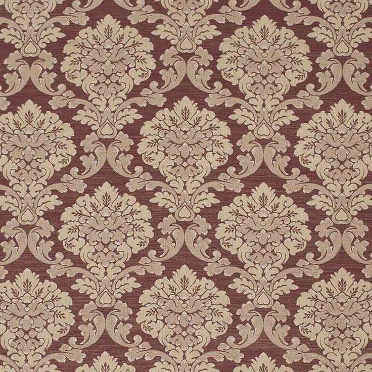 Warwick Fabrics : WINSLOW, Colour BORDEAUX