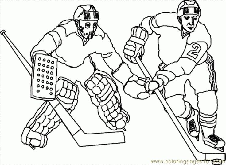 Free hockey players coloring pages sports coloring pages for Hockey players coloring pages