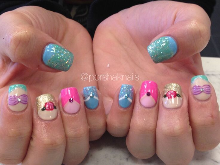 Disney princess nails Acrylic nails                              …