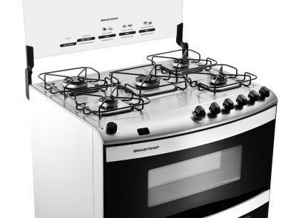 Fogão 5 Bocas Brastemp Clean Duplo Forno BFD5N - com Grill e Acendimento Automático com as melhores condições você encontra no Magazine Siarra. Confira!