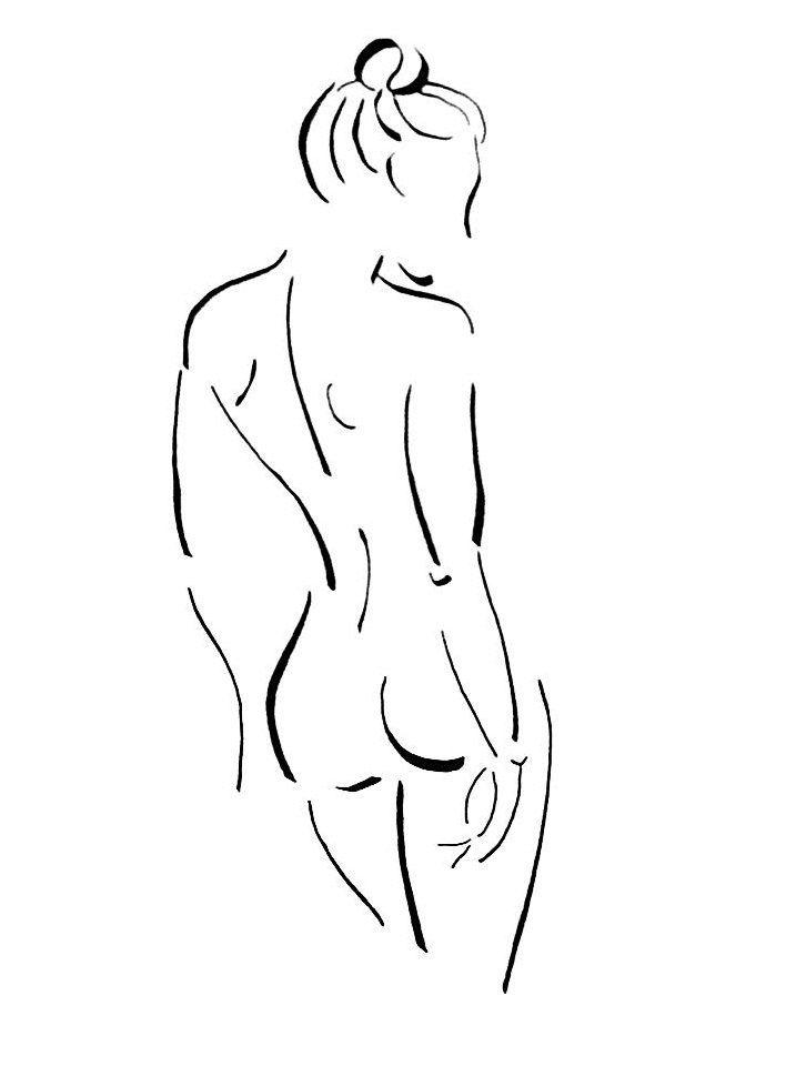 Original Nude Drawing  Bedroom Art Bathroom Art by FormElation, $25.00
