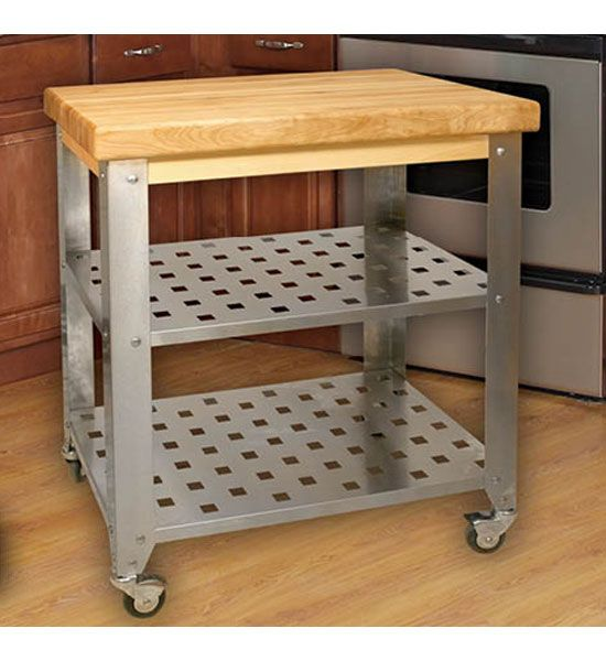 The Stainless Steel Kitchen Island Cart Is A Stylish Way To Preparation  Area In Your Kitchen