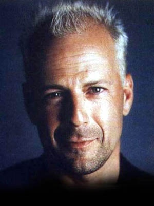 Bruce Willis....(I'm liking the hair....and the grey !)