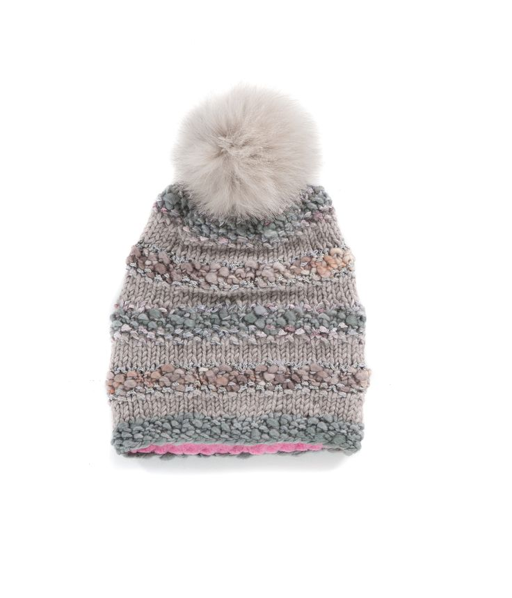 KNIT BEANIE CAP FOR WOMEN in Grey River Rock - The GŌBLE Women Knit Beanie Cap is a luxurious soft blend of merino wool, alpaca, silk and mohair HAND KNIT IN CANADA  GOBLE.CA