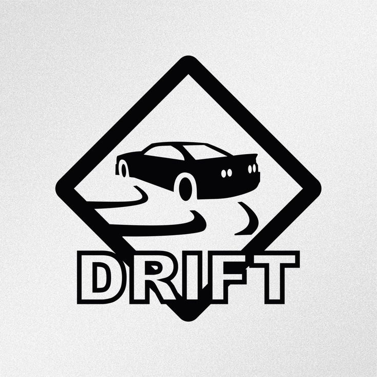 Drift road sign jdm car body window bumper vinyl decal sticker oracal