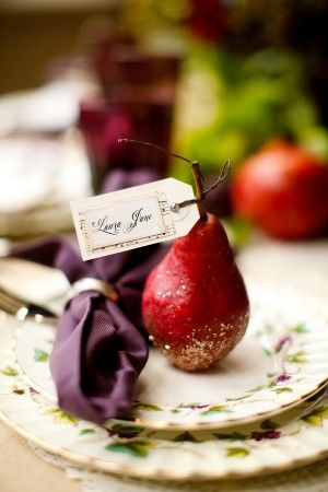 perfect Autumn detail - pear favors