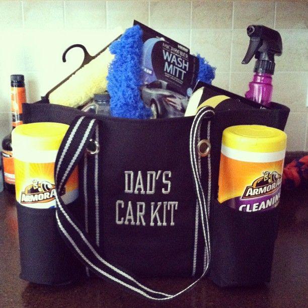 """""""Dad's Car Kit"""" with a thirty one organizing utility tote - great idea!  www.mythirtyone.com/shopwithmae"""
