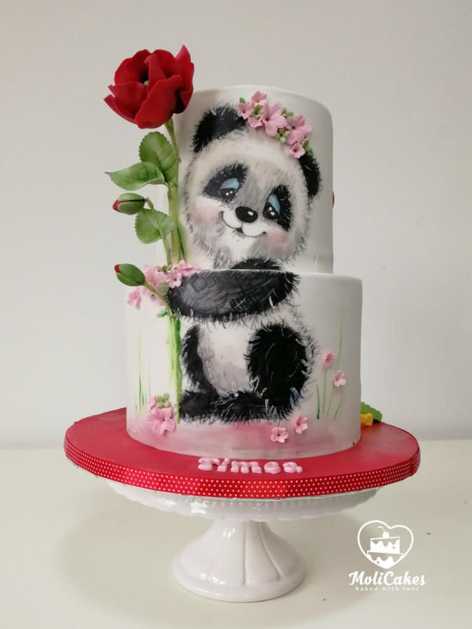 OMG I would love to have this panda cake for my birthday....hint hint Gina