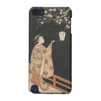 Young Woman Admiring Plum Blossoms at Night art iPod Touch (5th Generation) Cover #young #woman #japanese #lady #plum #blossom #vintage #oriental #gifts #accessories #harunobu #suzuki