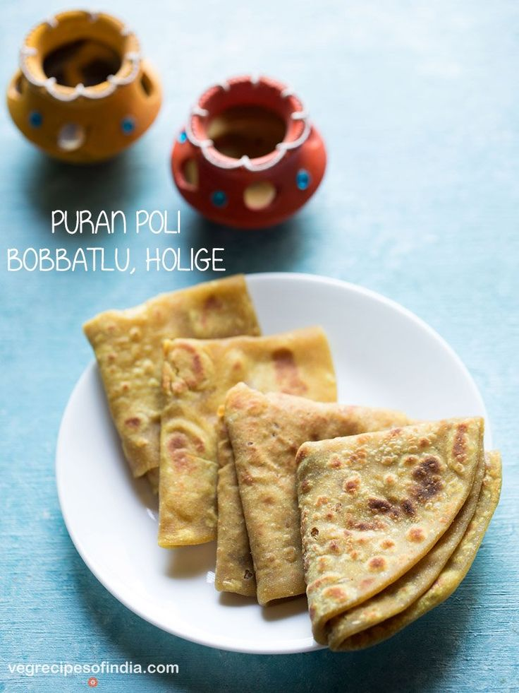 Puran Poli Recipe - Flat bread stuffed with a sweet lentil filling made from skinned spilt bengal gram/chana dal and jaggery.