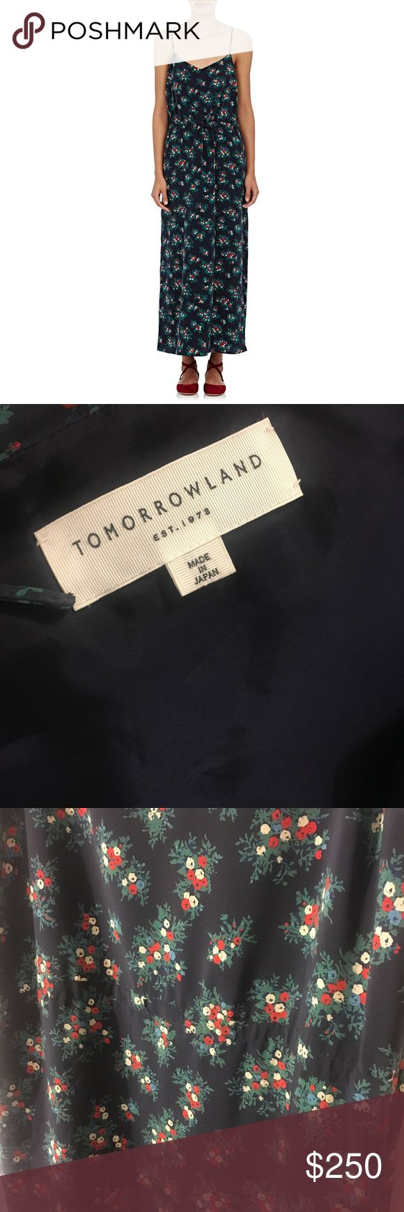"""TOMORROWLAND 🇯🇵 Floral 💐 Slip Silk Maxi Dress Gorgeous Tomorrowland Japan Floral print Maxi Dress for under half retail price! Guaranteed authentic! Lined top. Adjustable straps. Condition: clean! No waist tie for better shape. Typical wear and minor fading. Sold as is. No stains, snags, holes or odor. Overall great preowned condition! Shop with confidence! Ships fast  Approx. Measurements: Taken Flat  Chest: 35"""" Shoulders: 10.5"""" Arm Opening: 9.5"""" Hips: 40"""" Length: 54"""" TOMORROWLAND…"""