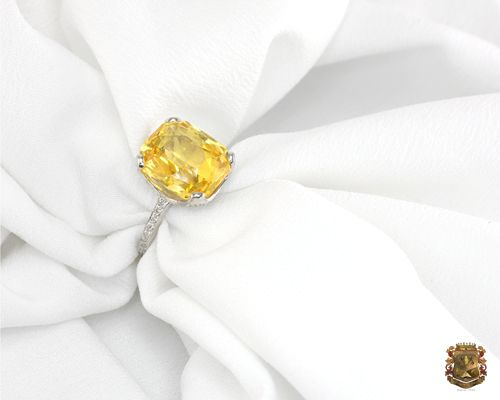 Natural Untreated Yellow Sapphire Ring -- This is it, this is everything I've ever wanted an engagement ring to be.   -Ashley