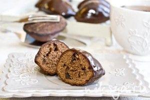 """Шоколадно-карамельное печенье """"Мадлен"""" с медом"""